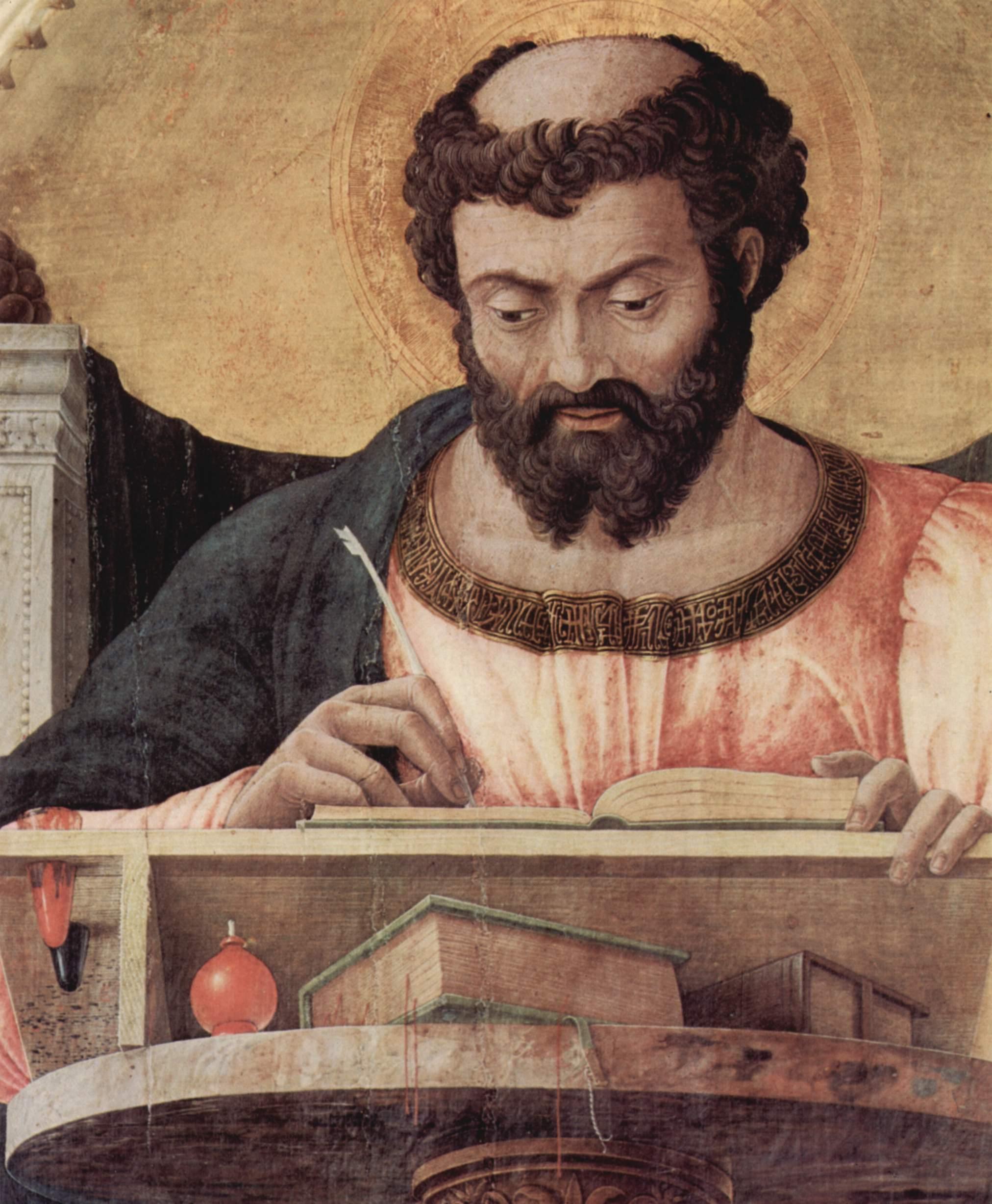Andrea Mantegna - saint Luc à son pupitre