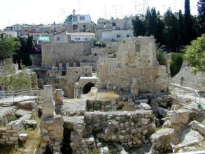 Le chantier des fouilles de la piscine de Bethesda